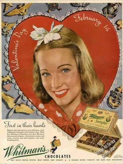 Whitman's Chocolates for Valentines Day (1944)
