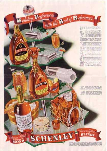 Schenley Brands of Whiskey Christmas (1940)
