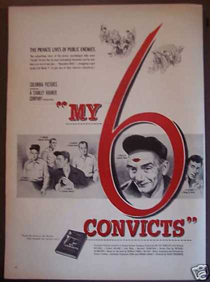My 6 Convicts Movie Promo Ad Millard Mitchell (1952)