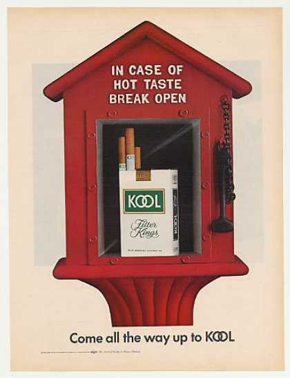 '70 Kool Cigarette Pack in Fire Alarm Hot Break Open (1970)
