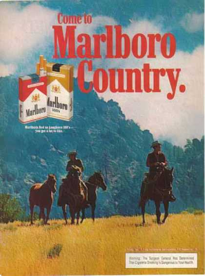 Marlboro Country Cigarettes – Cowboys Riding (1976)