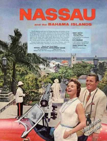 Nassau Bahamas View From Inland Guard Canon (1957)