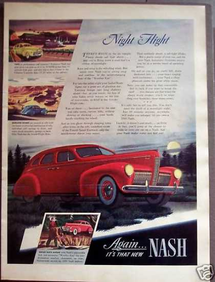 Red Nash Automobile Classic Car (1939)