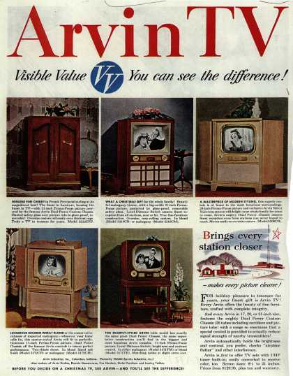 Arvin Industrie's various – Arvin TV Visible Value You can see the difference (1951)