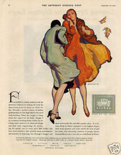 Body By Fisher Color Ad Barclay Art (1930)