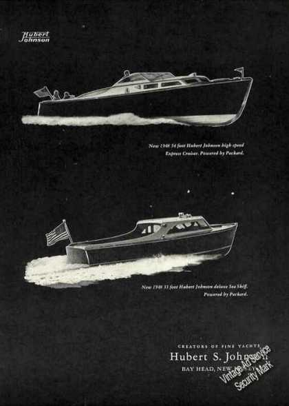 Hubert Johnson Cruiser & Sea Skiff Bay Head Nj (1948)