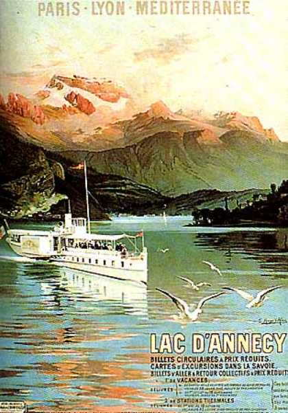 Lac d'Annecy by Hugo d'Alesi (1905)