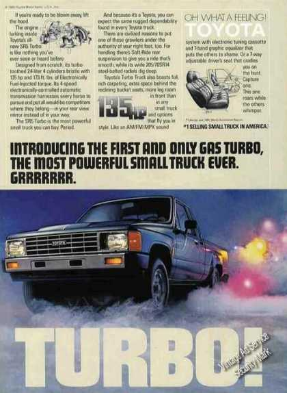 """Toyota Sr5 Turbo """"Most Powerful Ever"""" Truck (1985)"""
