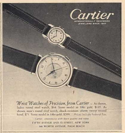 Cartier Watch Two Featured (1952)