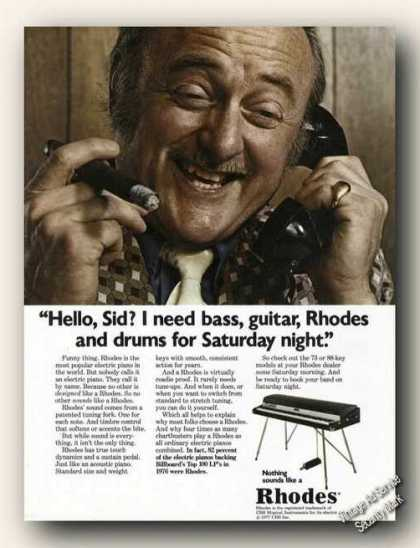 Rhodes Electric Piano Man With Cigar On Phone (1977)