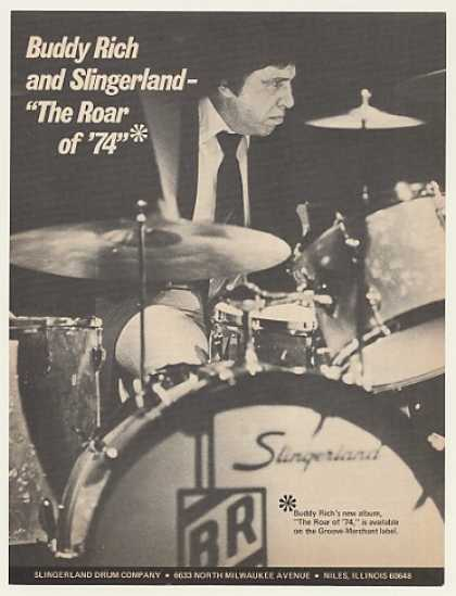 Buddy Rich Slingerland Drums Photo (1974)