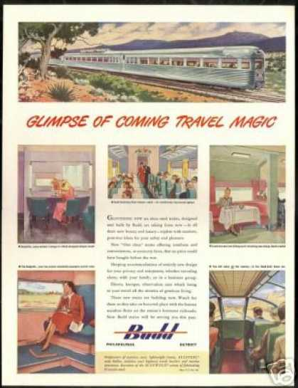 Budd New Trains Coming Railroad Vintage (1946)