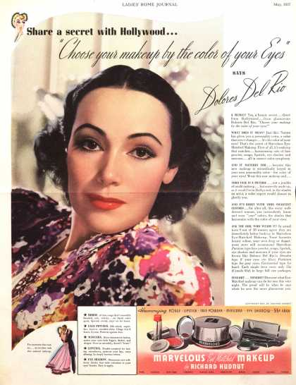 "Richard Hudnut's Various – Share a secret with Hollywood...""Choose your makeup by the color of your Eyes"" (1937)"