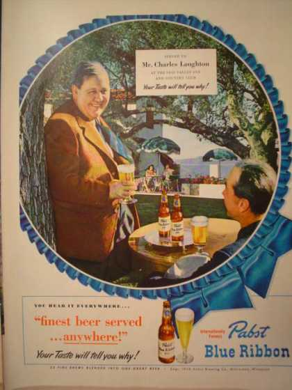 Pabst Blue Ribbon Charles Laughton (1949)