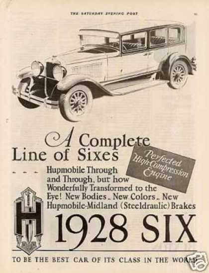 Hupmobile Six Car Ad 2 Page (1928)