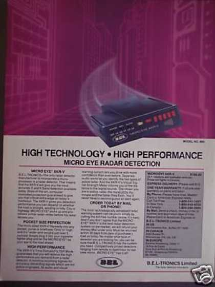 Bel Micro Eye Radar Detector Original (1985)
