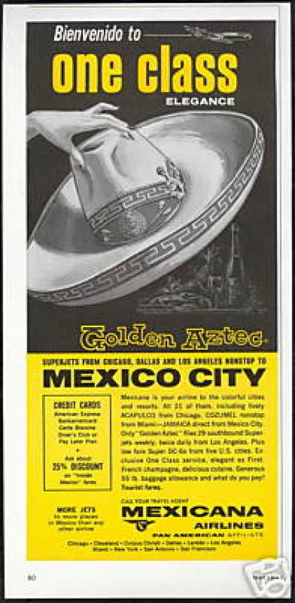 Mexicana Airlines Golden Aztec Sombrero (1966)