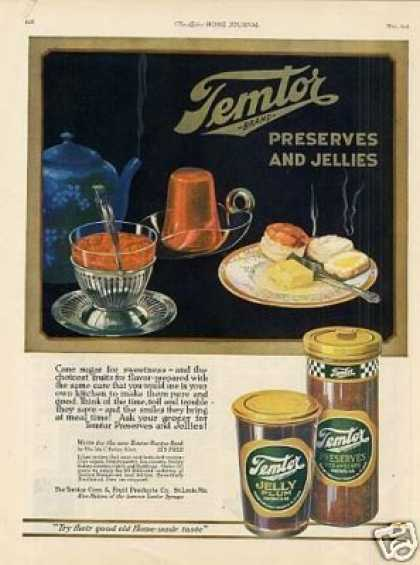 Temtor Preserves and Jellies Color (1921)