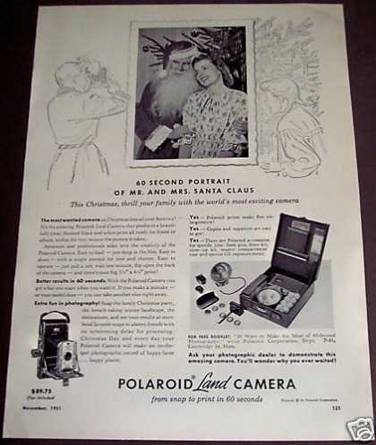 Polaroid Land Camera X-mas Santa Claus (1951)