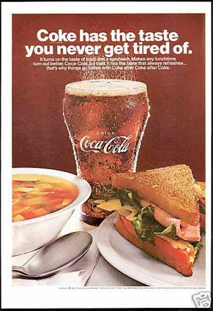 Coke Coca Cola Soup Sandwich Photo (1967)