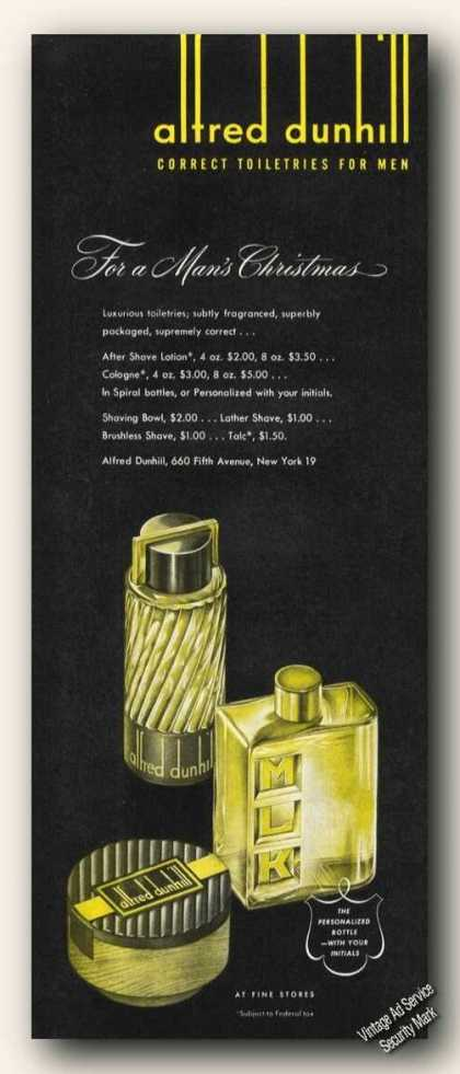 Alfred Dunhill Correct Toiletries for Men (1948)