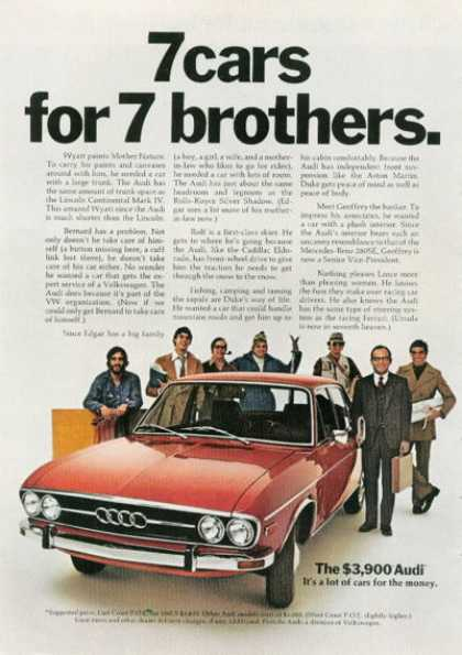 Audi 7 Cars Features (1972)