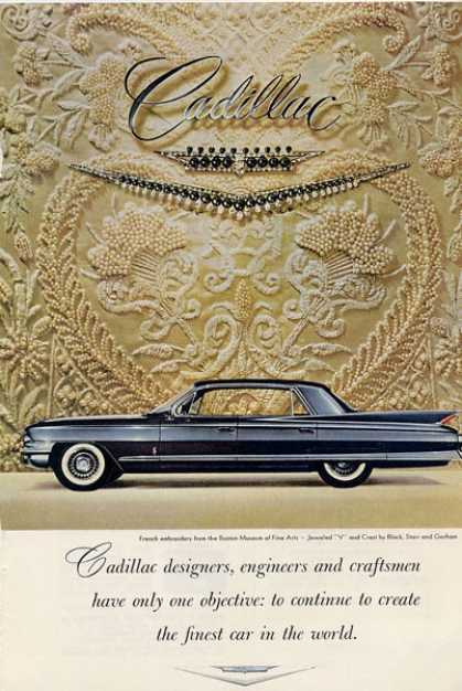 Cadillac French Embroidery Jeweled V Ad T (1961)