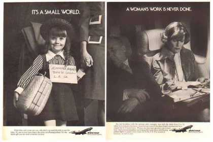 Boeing Aircraft Ads – Getting People Together- Set of Two (1977)