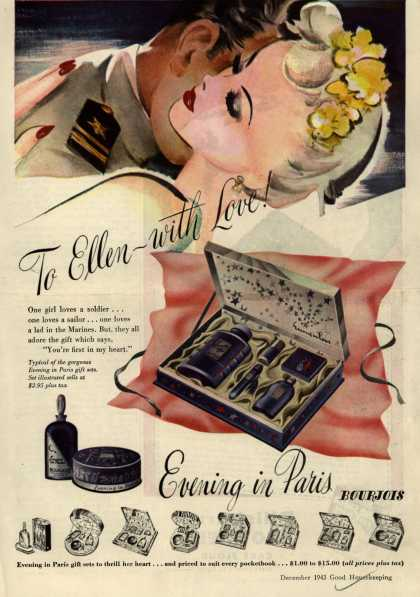 Bourjoi's Evening in Paris Cosmetics – To Ellen – with Love (1943)
