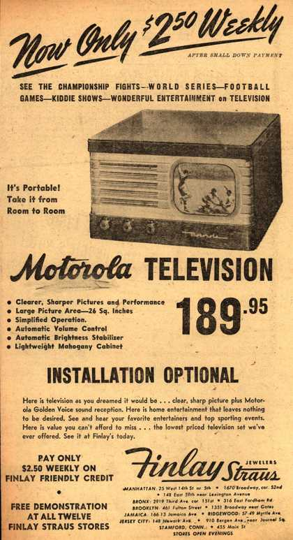 Motorola – Now Only $2.50 Weekly (1948)