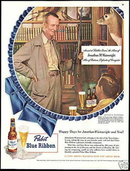 Pabst Beer Jonathan M Wainwright Medal of Honor (1948)