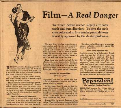 Pepsodent Company's Pepsodent Tooth Paste – Film-A Real Danger (1916)