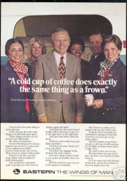 Eastern Airlines President Stewardess Photo (1976)