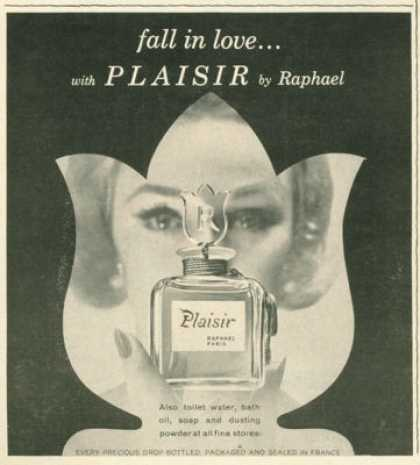 Raphael Plaisir Perfume Bottle (1961)