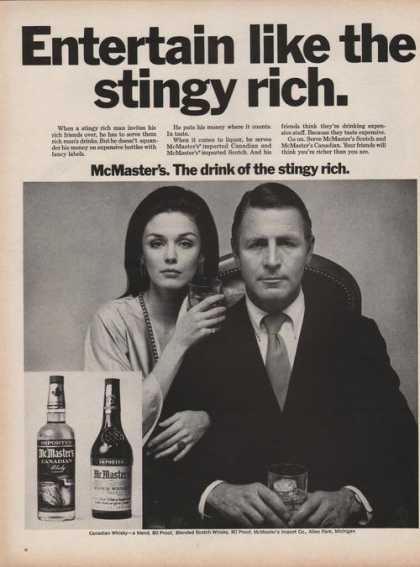 Mcmasters Canadian Whiskey (1969)
