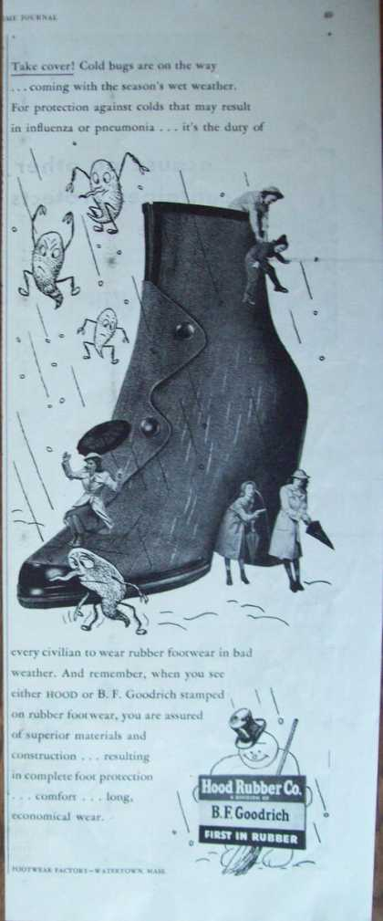 Vintageb F Goodrich Rubber for Shoes (1944)
