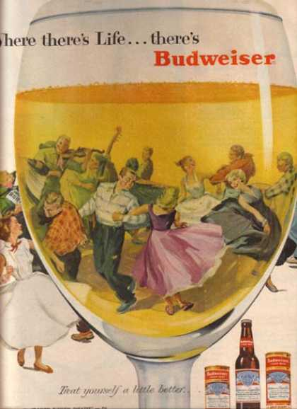"""Where there's Life...there's Budweiser"" (1956)"