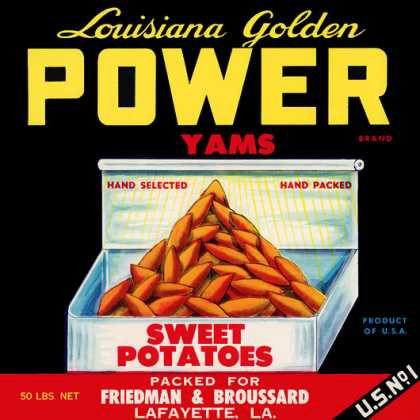 Louisiana Golden Power Yams, c. s (1940)