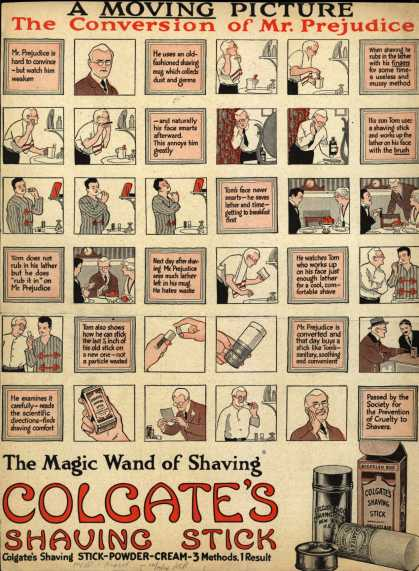 Colgate & Company's Colgate's Shaving Stick – A Moving Picture, The Conversion of Mr. Prejudice (1914)