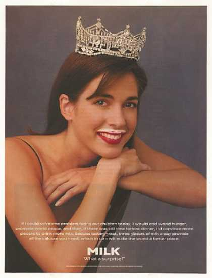 Miss America Heather Whitestone Milk Mustache (1995)