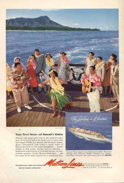 Seagram Fly Fishing Matson Hawaii Cruise (1953)