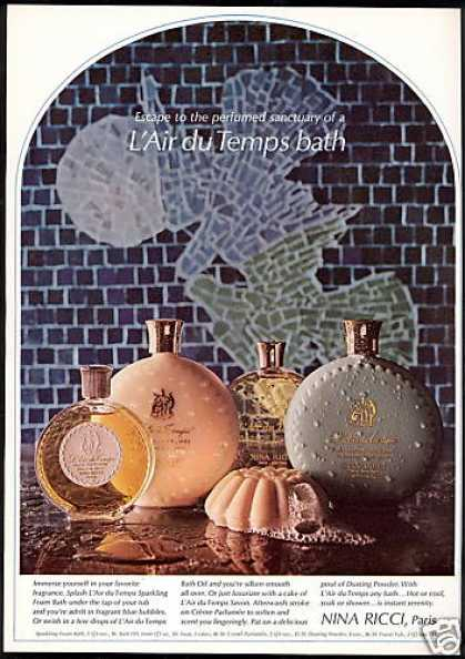 Nina Ricci L'Air Du Temps Bath Foam Soap Oil (1968)