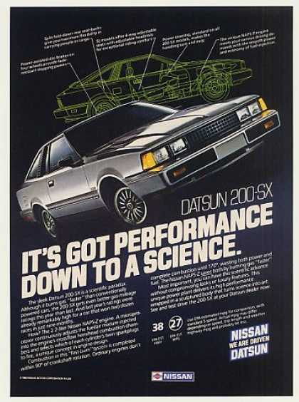 Datsun 200-SX Performance Down to a Science (1983)