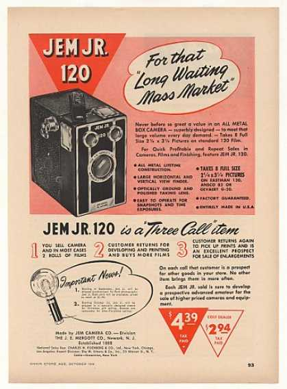 Jem Jr 120 Metal Box Camera (1948)