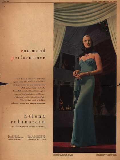 Helena Rubinstein's Command Performance make-up line – Command Performance Helena Rubinstein (1946)
