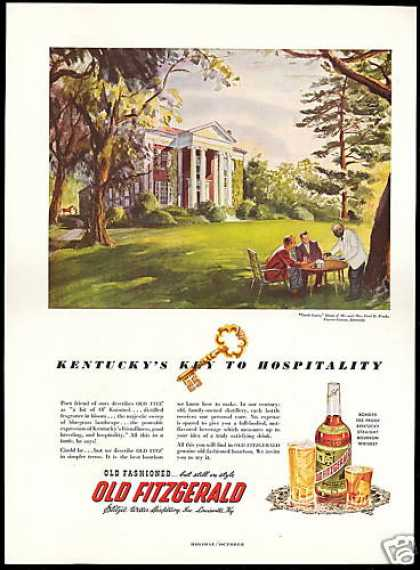 Old Fitzgerald Whiskey Kentucky Fayette County (1951)