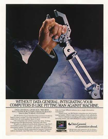 Data General Computer System Man Machine Arms (1987)