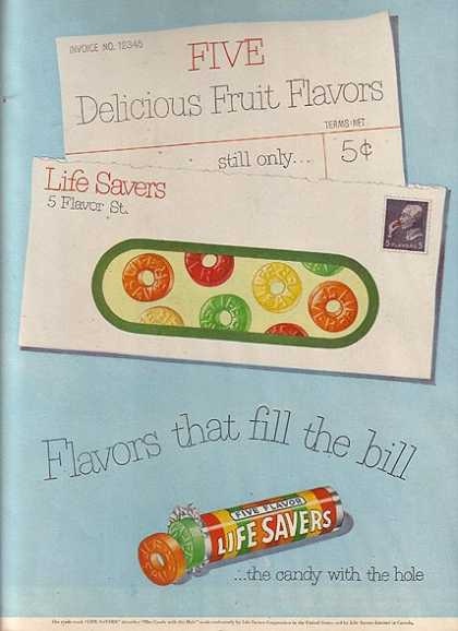Lifesaver's Five Flavor Life Savers (1951)