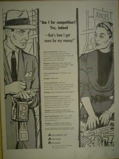 Association of American Railroads. Am I for competition, Yes (1955)