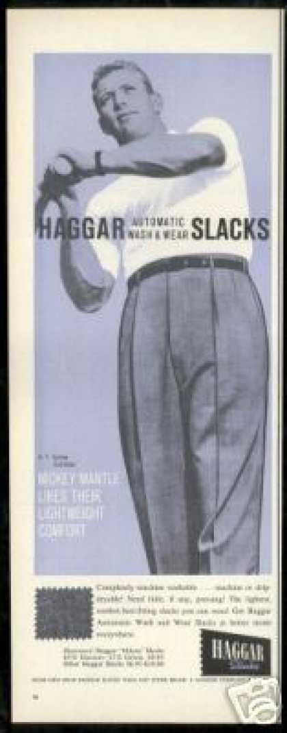 Mickey Mantle NY Yankees Haggar Fashion (1959)